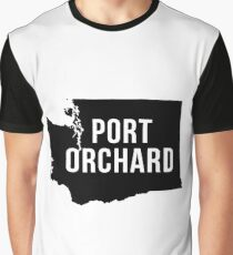 Port Orchard, Washington Silhouette Graphic T-Shirt