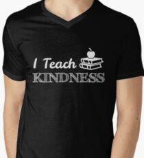 I Teach Kindness T-Shirt Teacher's Appreciation Theme Cool Tee Men's V-Neck T-Shirt