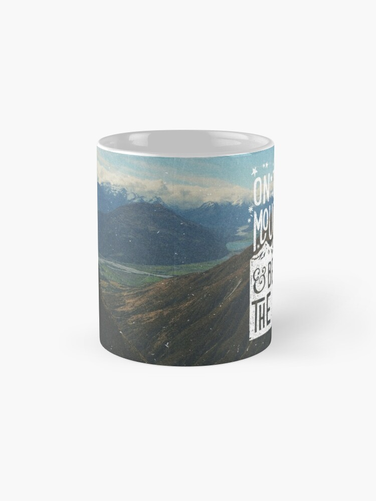 Alternate view of On Top Of Mountains Mug