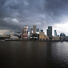 Canary Wharf Thames Panorama by jezkemp