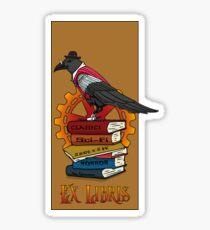 Ex Libris - Steampunk Raven Sticker