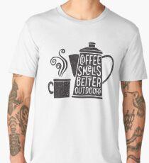 Coffee Smells Better Men's Premium T-Shirt