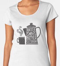 Coffee Smells Better Women's Premium T-Shirt