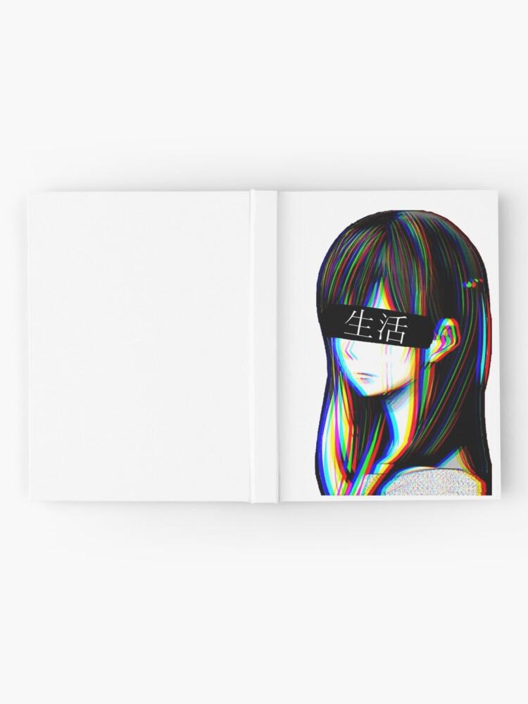 Alternative Ansicht von Ist das Art Sad Japanese Aesthetic (Japanische Version) Notizbuch