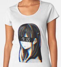 Is this Art Sad Japanese Aesthetic (JAPANESE VERSION) Women's Premium T-Shirt
