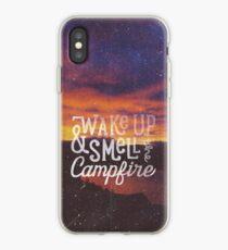 wach auf und rieche das Lagerfeuer iPhone-Hülle & Cover