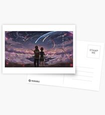 Romantic Moment Your Name Postcards