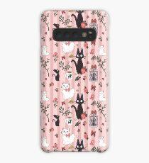Jiji Katzenmuster Hülle & Klebefolie für Samsung Galaxy