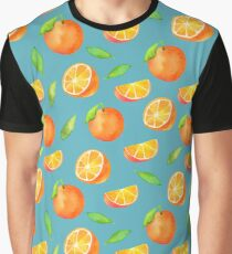 Watercolor Oranges Pattern 2 Graphic T-Shirt