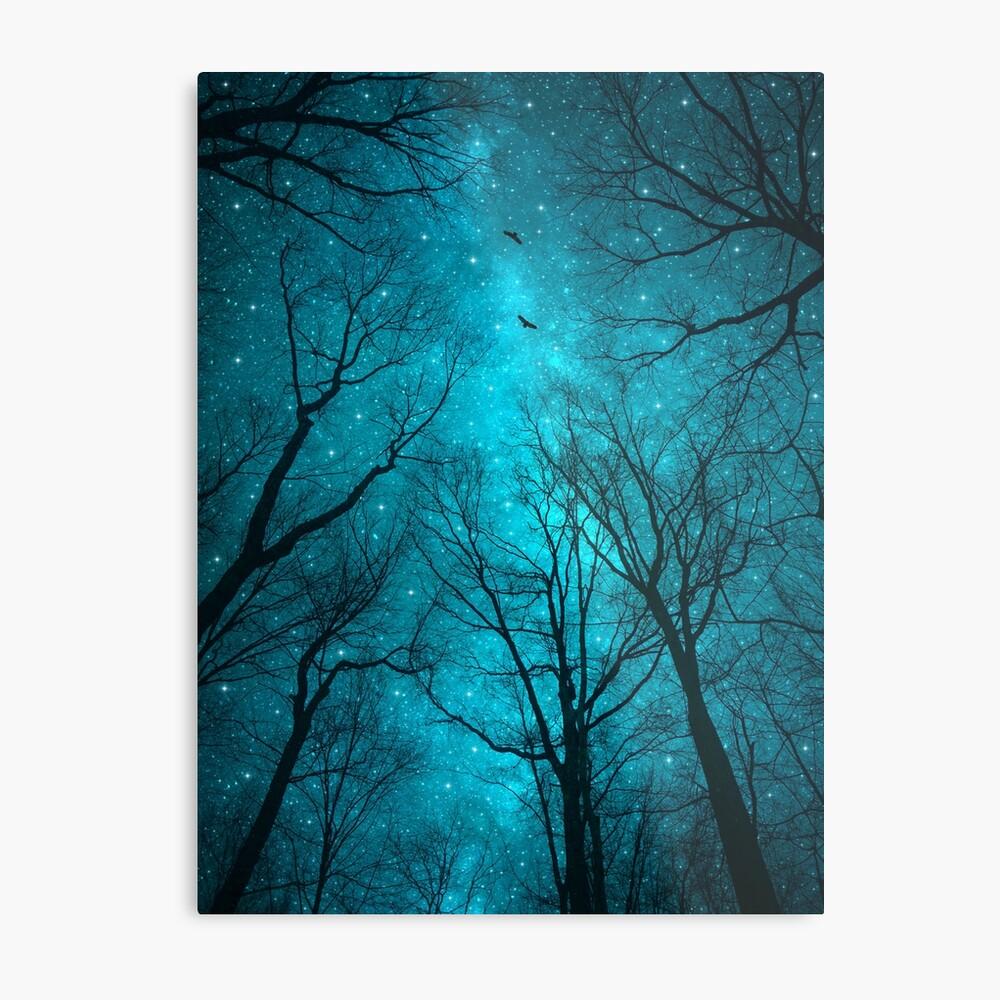 Sterne können nicht ohne Dunkelheit leuchten Metallbild