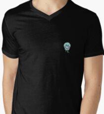 Holographischer schmelzender smiley T-Shirt mit V-Ausschnitt für Männer