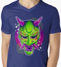 Neon Noh - Hannya Men's V-Neck T-Shirt