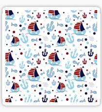 Nautical pattern Sticker