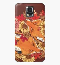 Funda/vinilo para Samsung Galaxy Autumn Fox Bloom