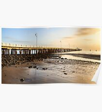 Pier from Shorncliffe Beach Poster