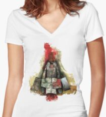 boo-boy and jak Women's Fitted V-Neck T-Shirt