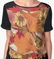 Autumn Fox Bloom Chiffon Top