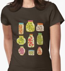 Autumn pickled vegetables Women's Fitted T-Shirt