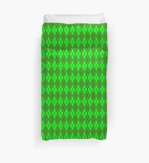 Green and Green Argyle Duvet Cover