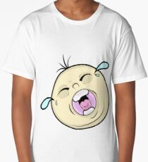 Crying Baby Face on Board Long T-Shirt