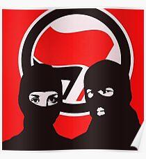ANTIFA - AFA Masked Protest Flag Poster