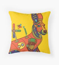 Kangaroo, from the AlphaPod collection Throw Pillow
