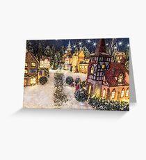 A Snowy Evening Greeting Card