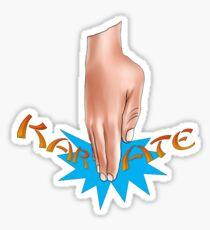 Karate Chop Sticker