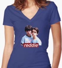 Reddie ♡  Women's Fitted V-Neck T-Shirt