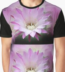 Pink Cactus Flower in the Rain #2 Graphic T-Shirt