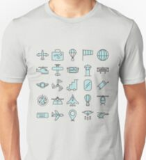 Aviations Icons Planes and Aircraft T-Shirt