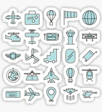 Aviations Icons Planes and Aircraft Sticker