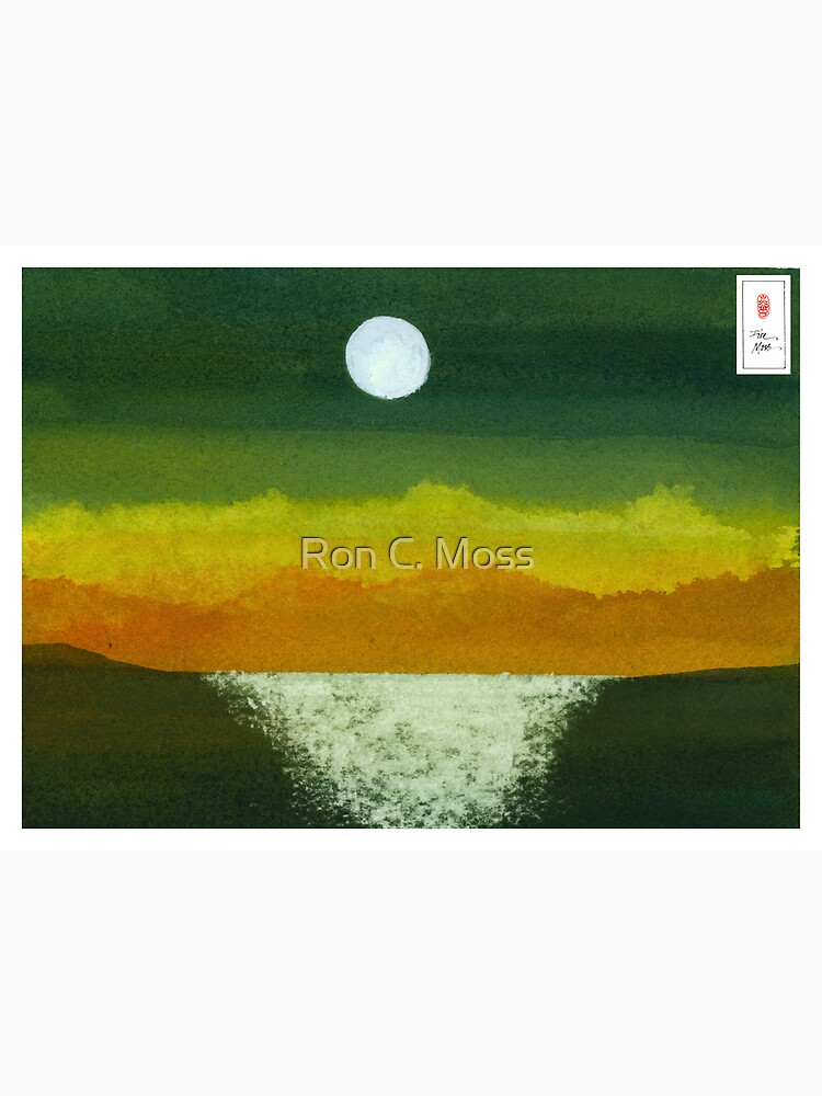 Moon and Ocean by ronmoss