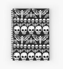 Death's head moth and Skulls pattern Spiral Notebook