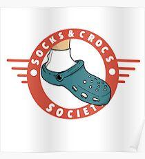 Socks & Crocs society crest Poster