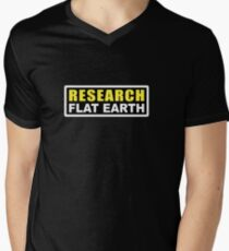 RESEARCH FLAT EARTH (1st Billboard graphics) Men's V-Neck T-Shirt