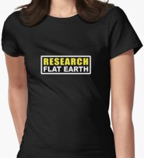 RESEARCH FLAT EARTH (1st Billboard graphics) Women's Fitted T-Shirt