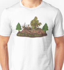 Precious Baby Deer Forest T-Shirt