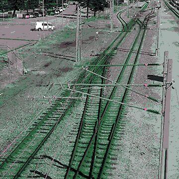 Vaporwave Train Tracks by AtomicLukai