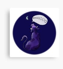 Mooing at the Moon Canvas Print