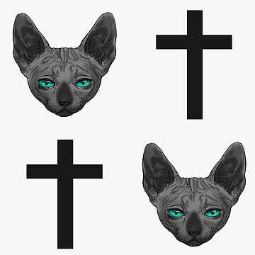 Cats and Crosses B/W by Roksva