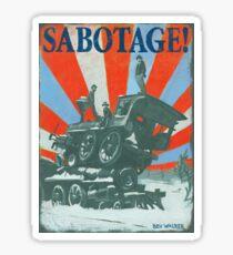 SABOTAGE! Train Wreck  Sticker