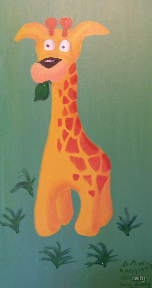 giraffe painting by caity