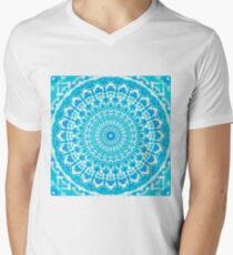 Tranquil Summer Bay Mandala Men's V-Neck T-Shirt