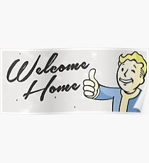 Welcome Home - Vintage Styling  Poster