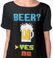 Choose Beer! Video Game Edition Women's Chiffon Top