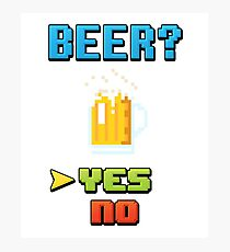Choose Beer! Video Game Edition Photographic Print