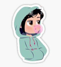 Hooded Glitch Sticker