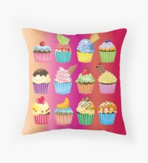 Cupcakes Galore Delicious Yummy Sugary Sweet Baked Treats Floor Pillow