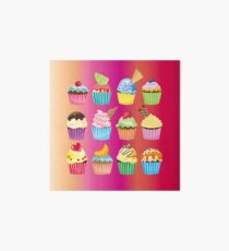Cupcakes Galore Delicious Yummy Sugary Sweet Baked Treats Art Board